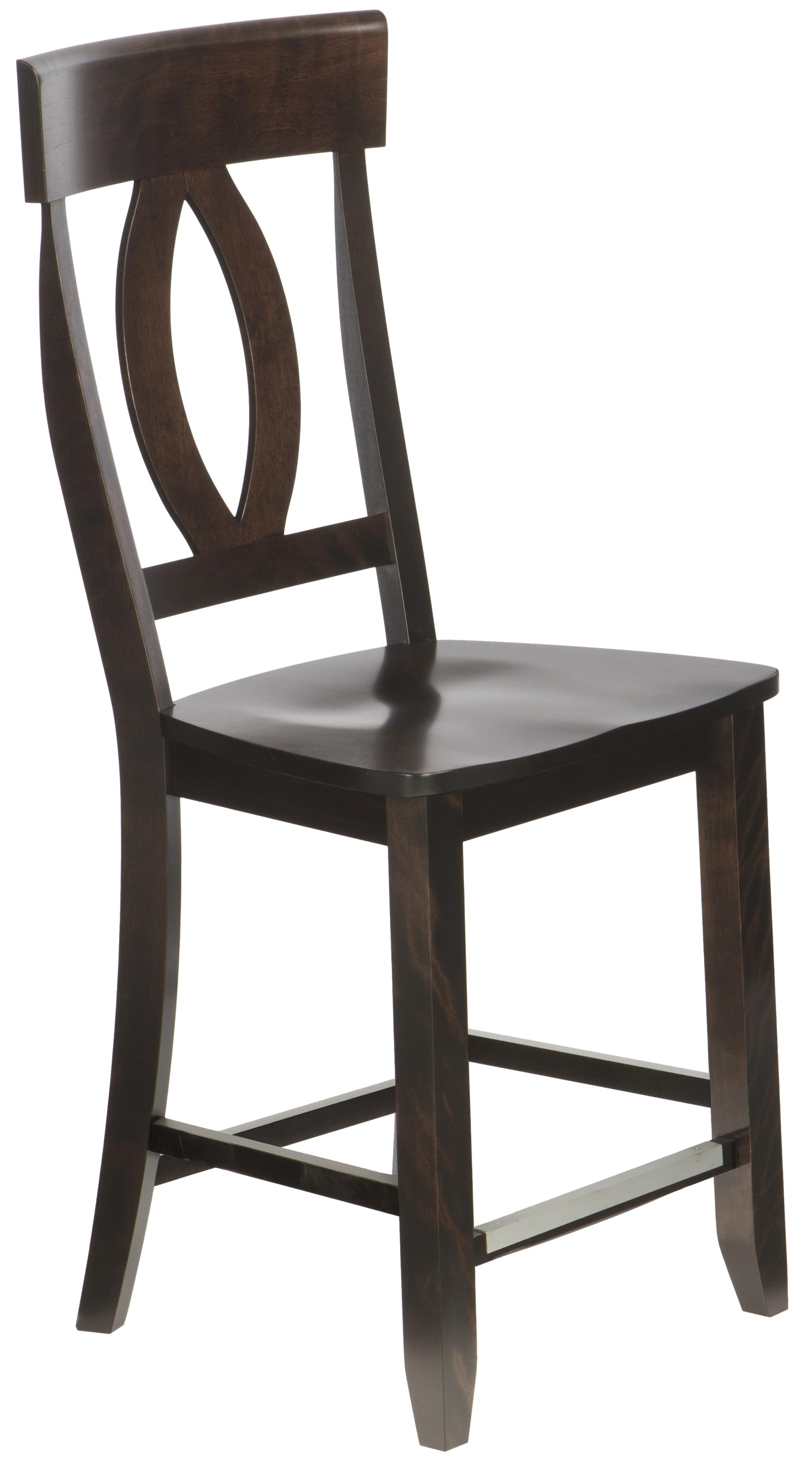 "Bar Stools Customizable 23"" Wood Seat Fixed Stool by Canadel at Williams & Kay"