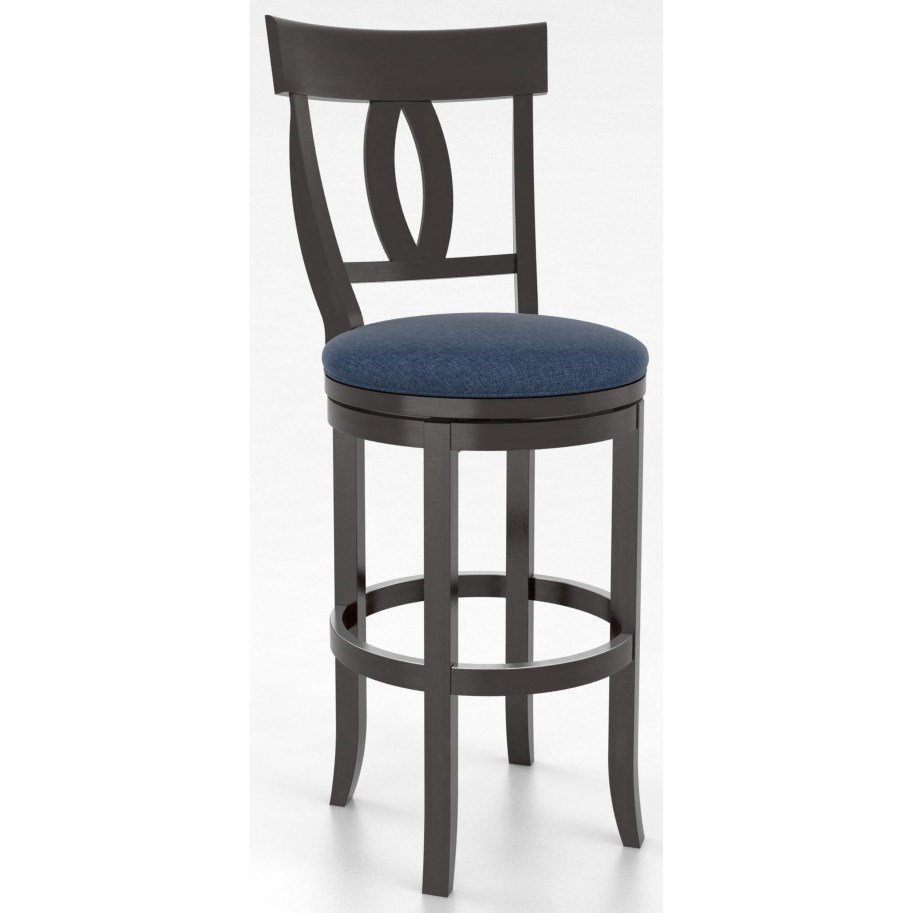 "Bar Stools Customizable 30"" Upholstered Swivel Stool by Canadel at Becker Furniture"