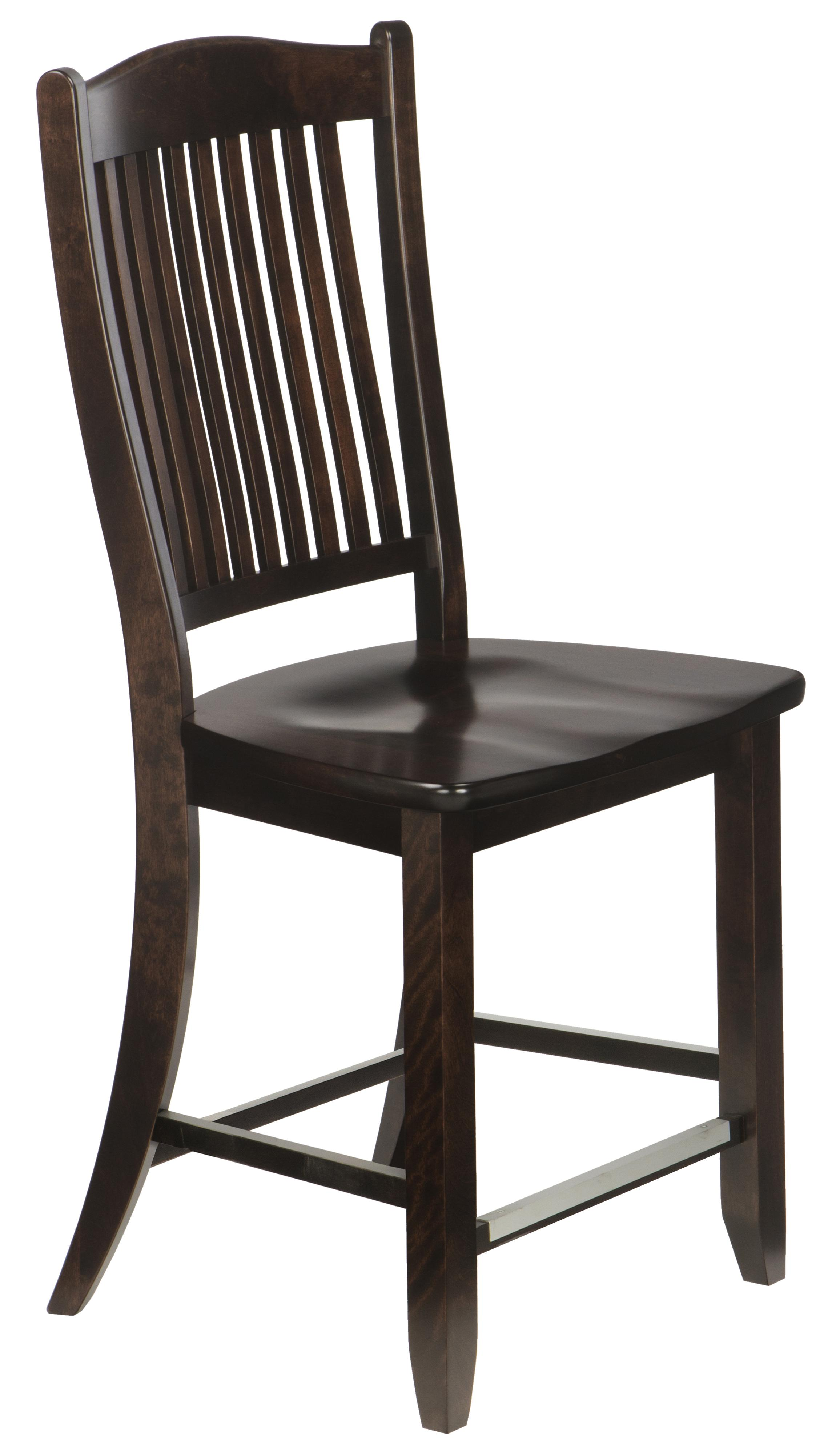 """Bar Stools Customizable 23"""" Wood Seat Fixed Stool by Canadel at Becker Furniture"""