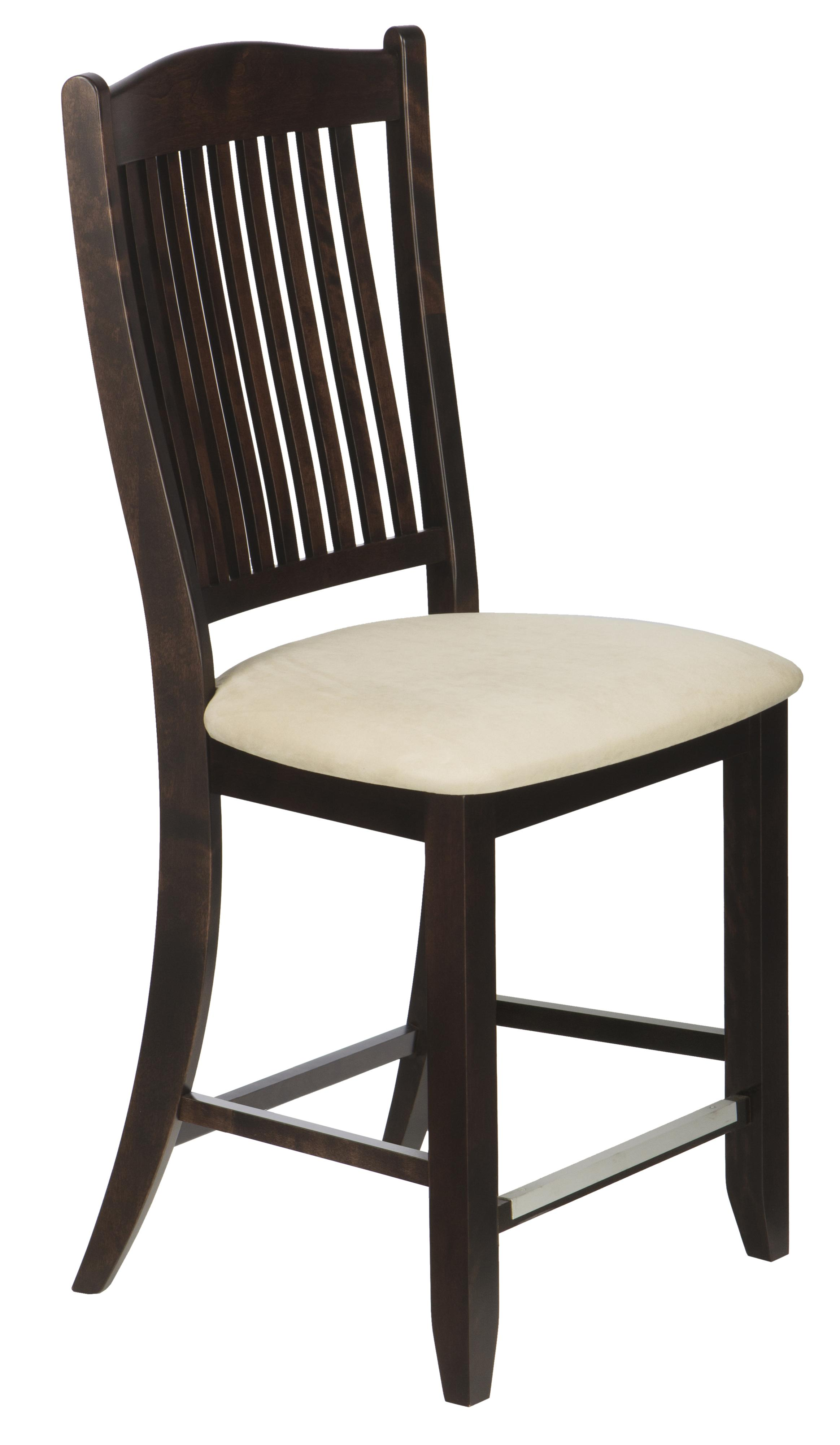 """Bar Stools Customizable 24"""" Upholstered Fixed Stool by Canadel at Steger's Furniture"""