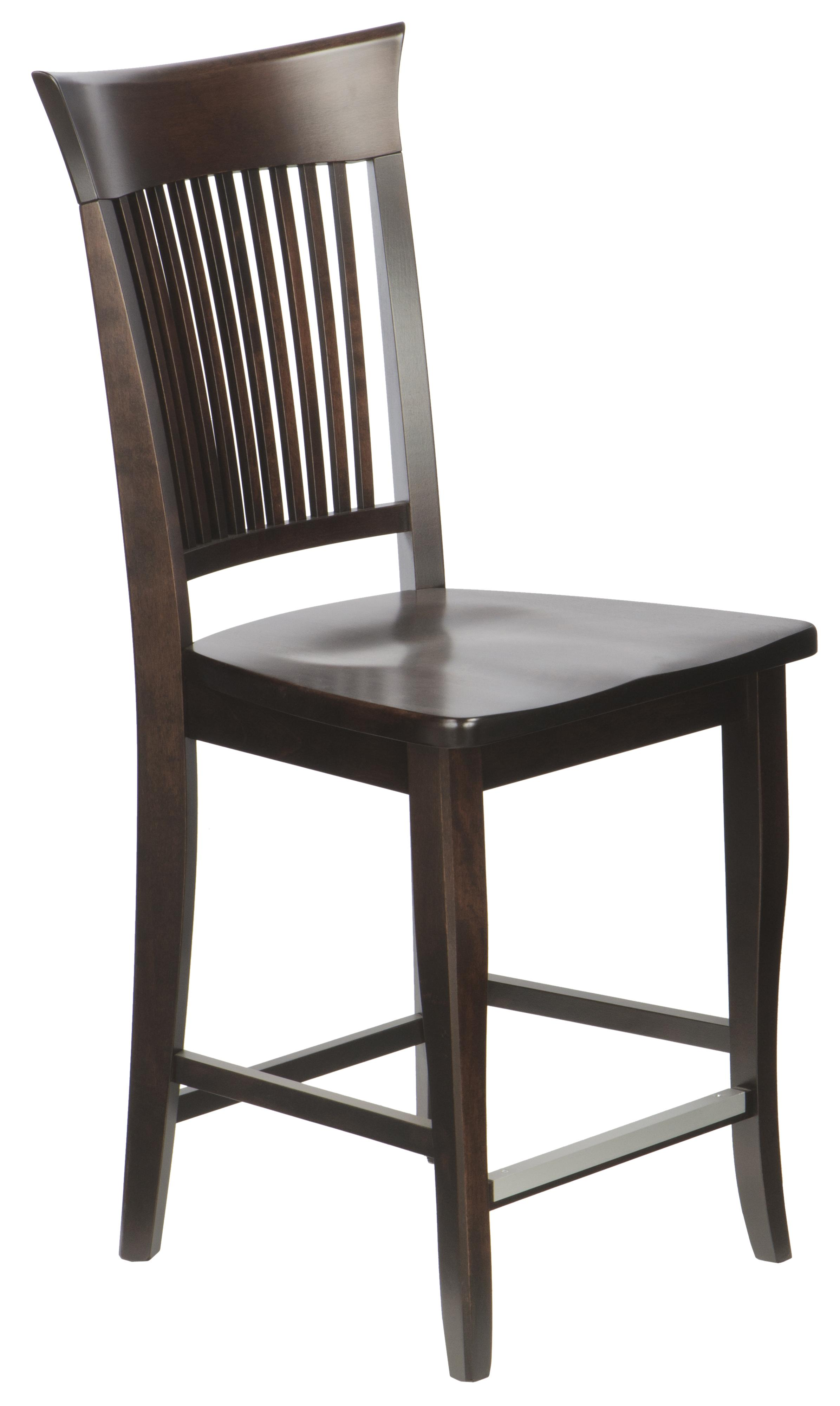"""Bar Stools Customizable 24"""" Wood Seat Fixed Stool by Canadel at Saugerties Furniture Mart"""