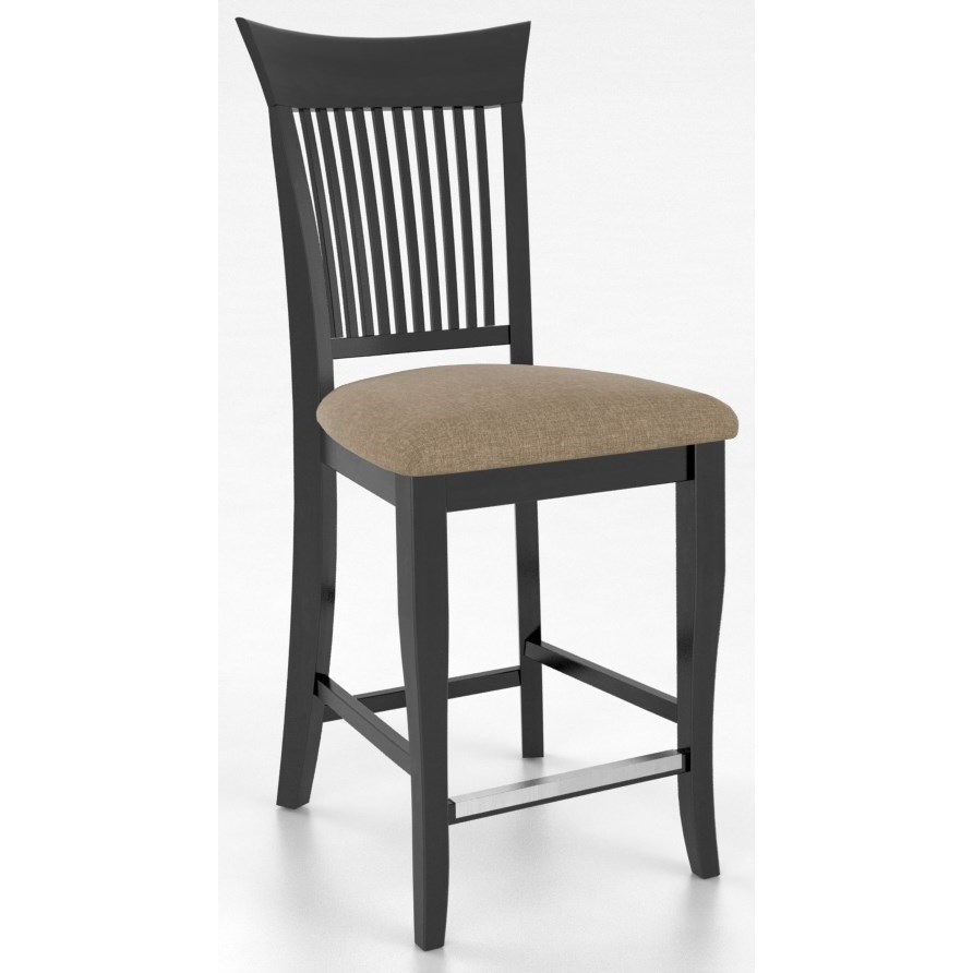"""Bar Stools Customizable 24"""" Upholstered Fixed Stool by Canadel at Jordan's Home Furnishings"""