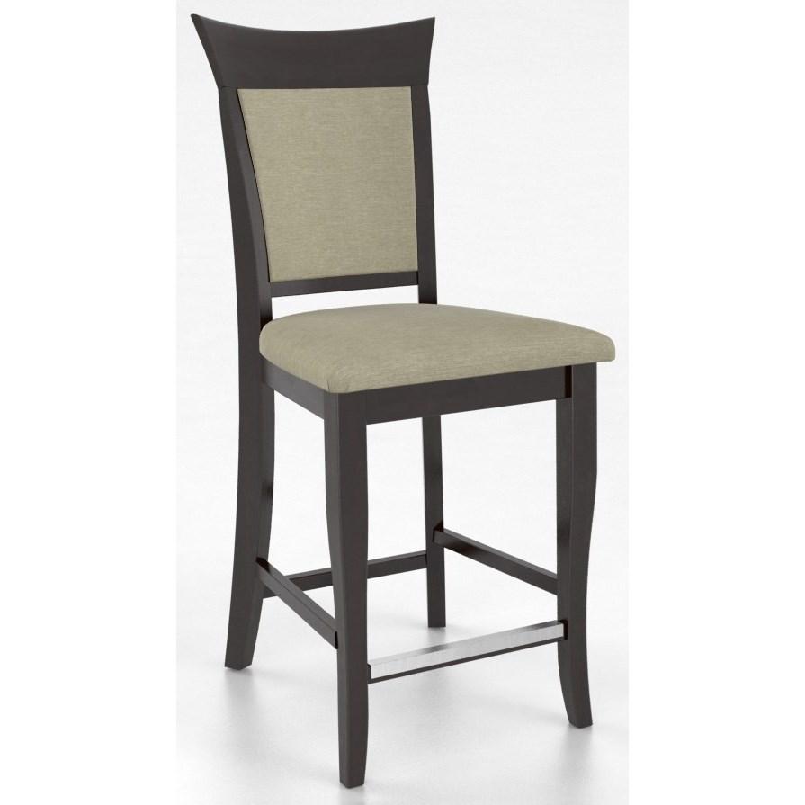 """Bar Stools Customizable 24"""" Upholstered Fixed Stool by Canadel at Dinette Depot"""