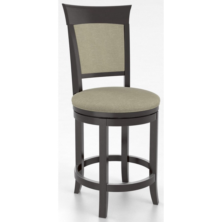 "Bar Stools Customizable 26"" Upholstered Swivel Stool by Canadel at Saugerties Furniture Mart"