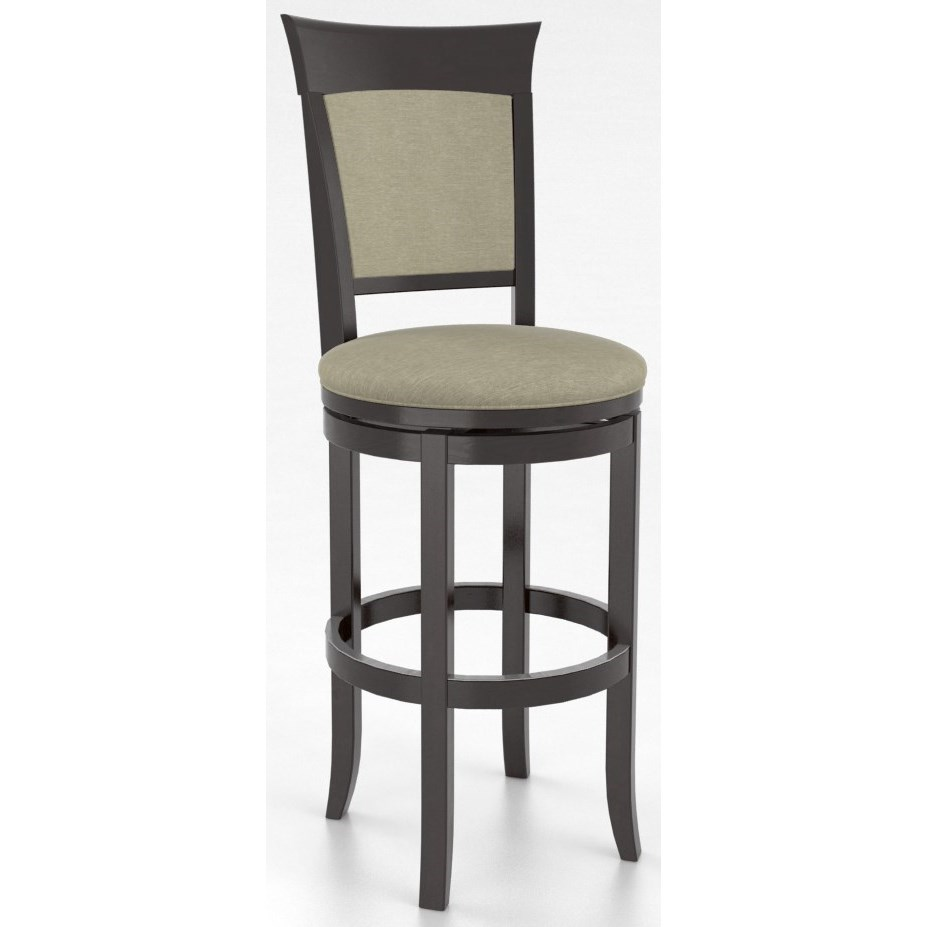 "Bar Stools Customizable 32"" Upholstered Swivel Stool by Canadel at Becker Furniture"