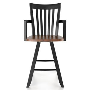 "Customizable 24"" Swivel Stool with Arms"