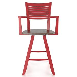 "Customizable 24"" Swivel Stool w/ Arms"