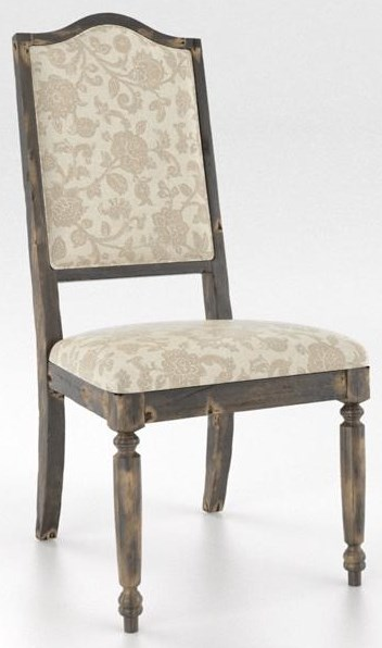 Champlain Distressed Champlain Upholstered Side Chair by Canadel at Sprintz Furniture