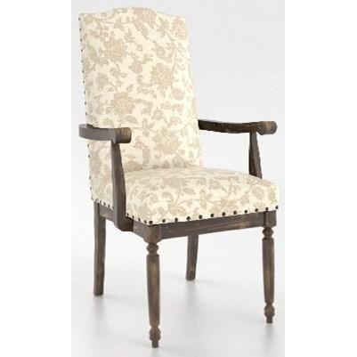 Champlain - Custom Dining Customizable Arm Chair by Canadel at Jordan's Home Furnishings