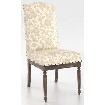 Champlain - Custom Dining Customizable Side Chair by Canadel at Jordan's Home Furnishings