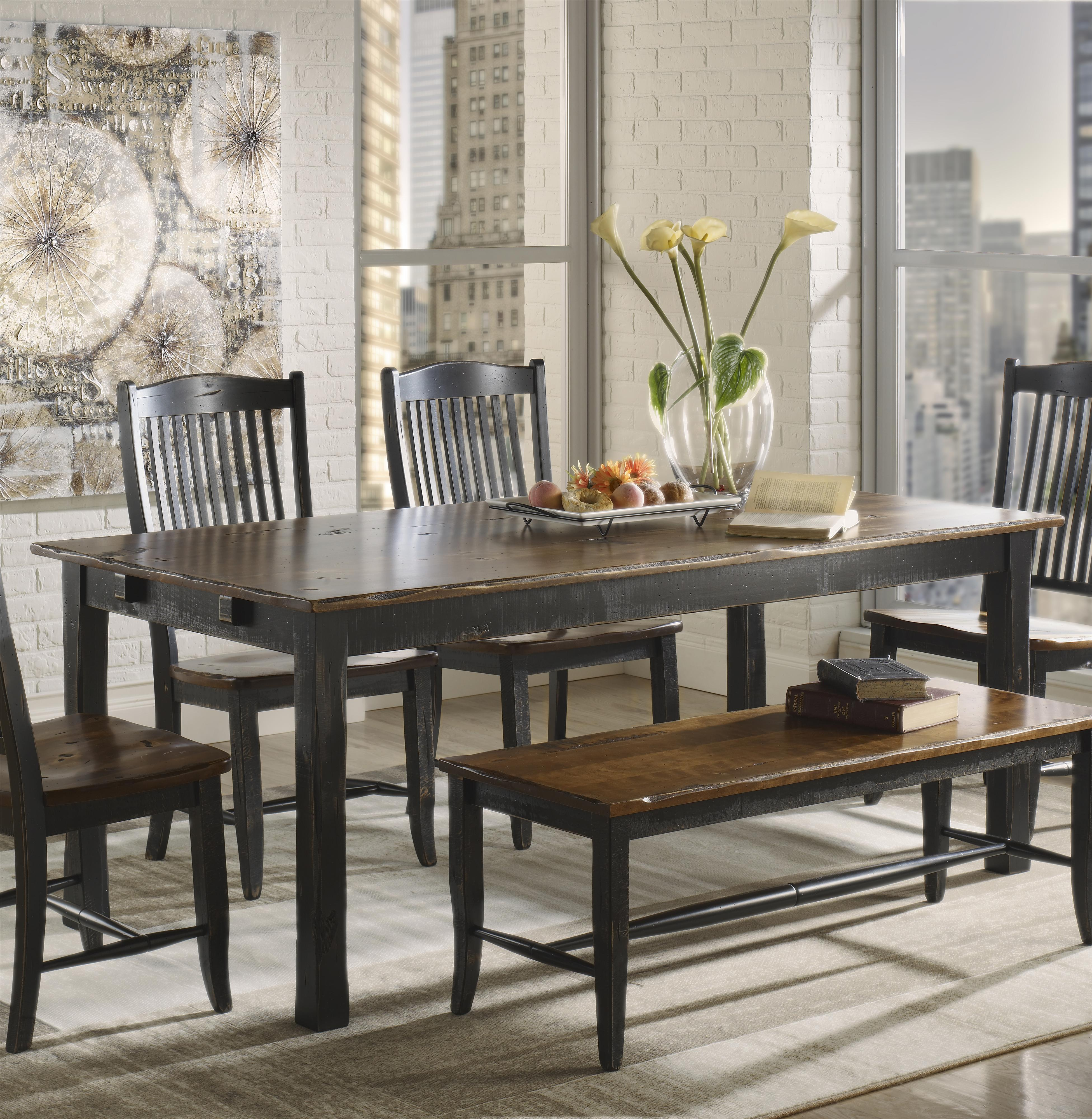 Champlain - Custom Dining <b>Customizable</b> Rectangular Table  by Canadel at Dinette Depot