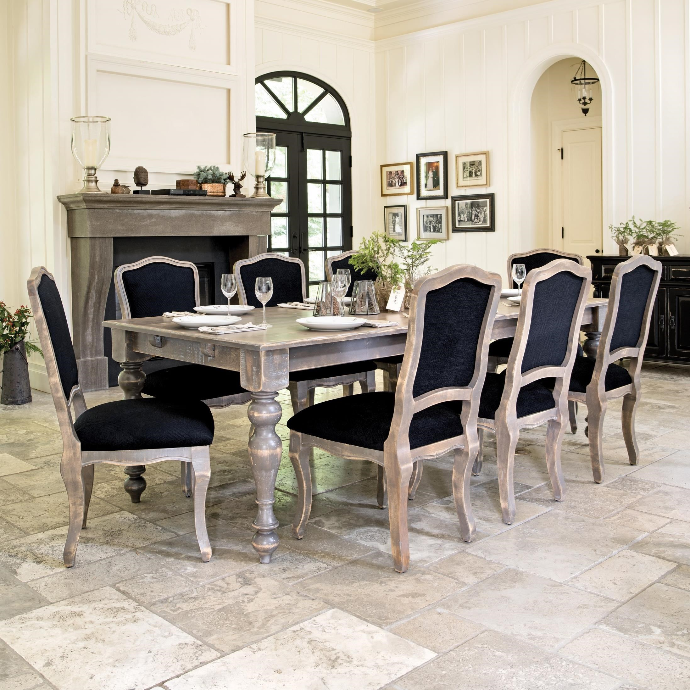 Champlain - Custom Dining Customizable Table Set by Canadel at Jordan's Home Furnishings