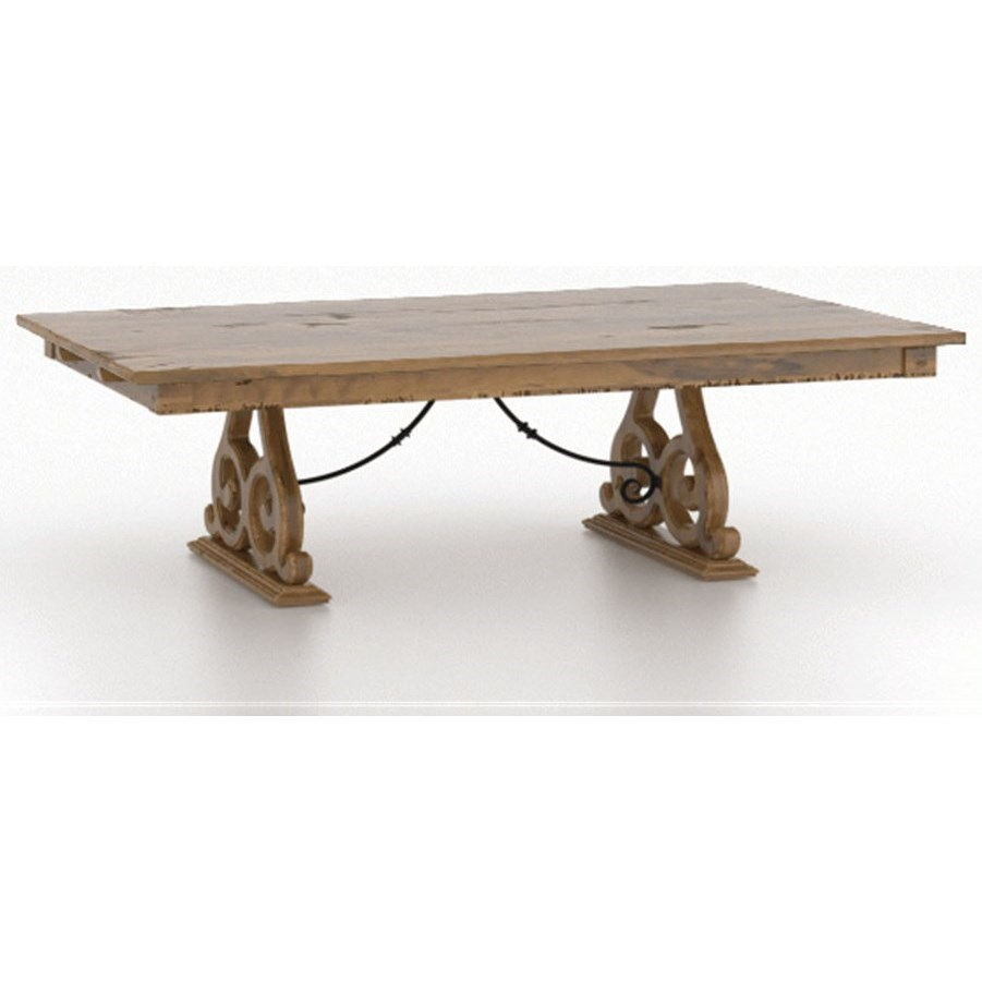 Champlain - Custom Dining Customizable Dining Table by Canadel at Jordan's Home Furnishings