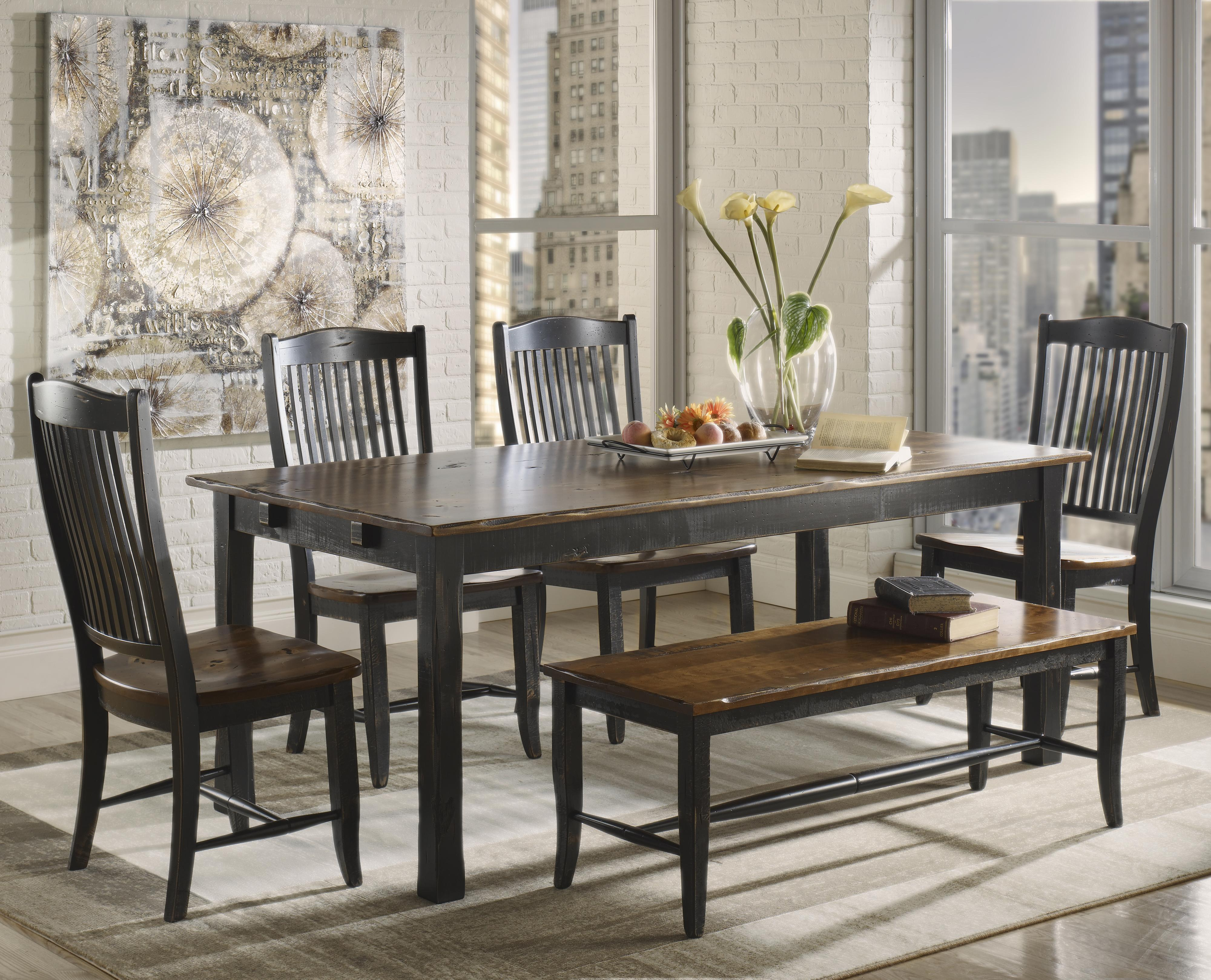 Champlain - Custom Dining <b>Customizable</b> Rectangular Table Set by Canadel at Dinette Depot
