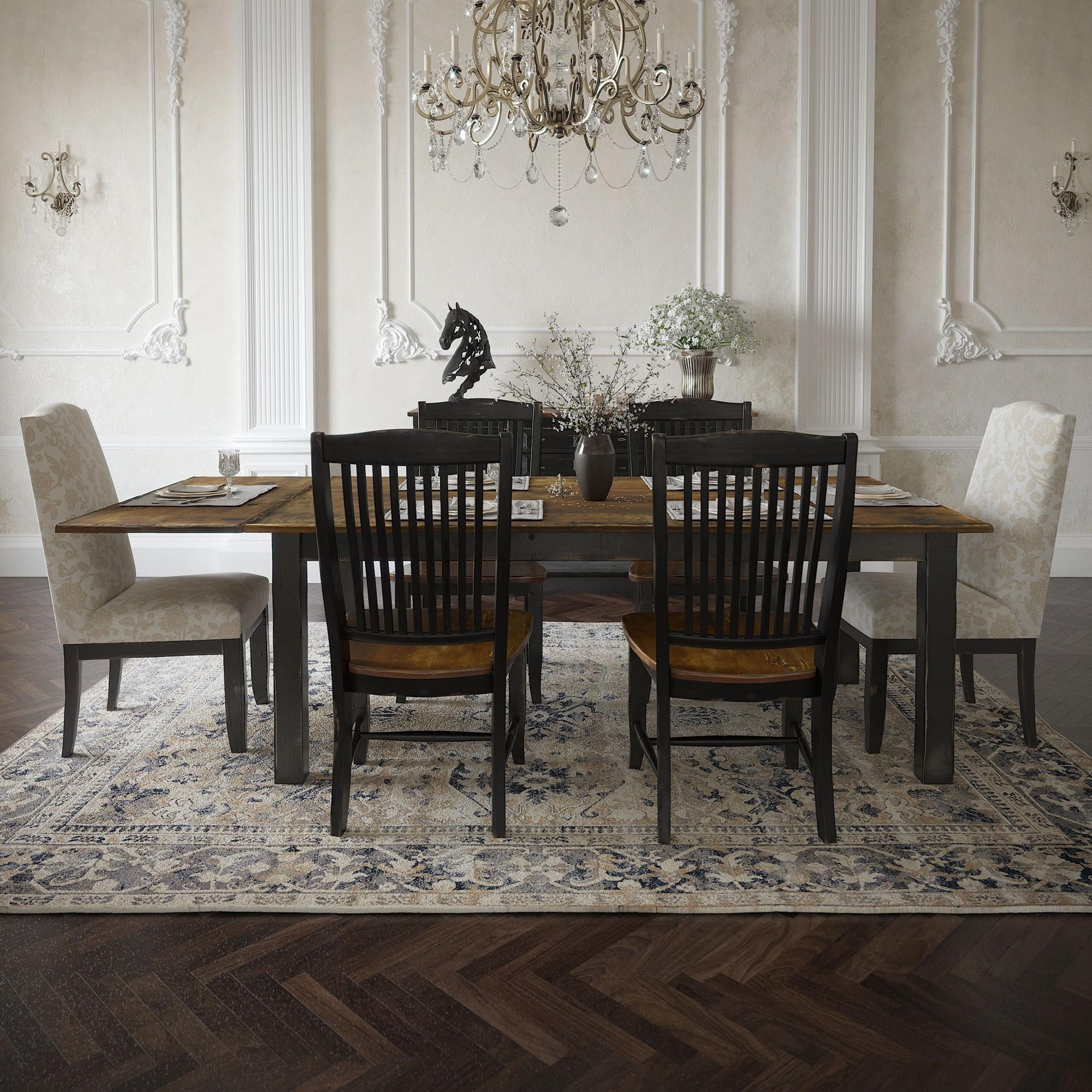 Champlain - Custom Dining Customizable Rectangular Table Set by Canadel at Dinette Depot