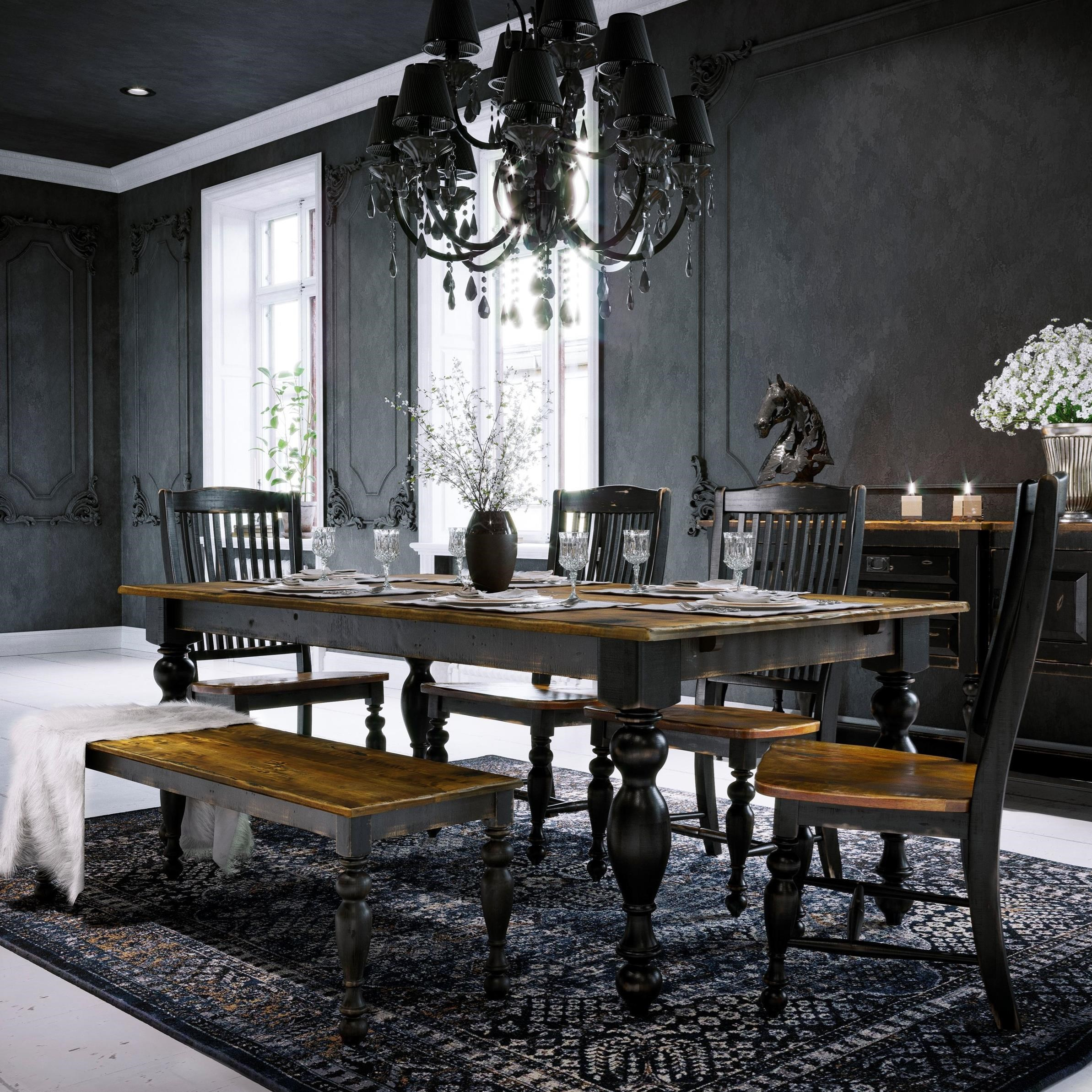 Champlain - Custom Dining Customizable Table Set with Bench by Canadel at Dinette Depot