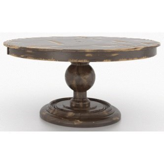 Champlain - Custom Dining Customizable Round Dining Table by Canadel at Jordan's Home Furnishings