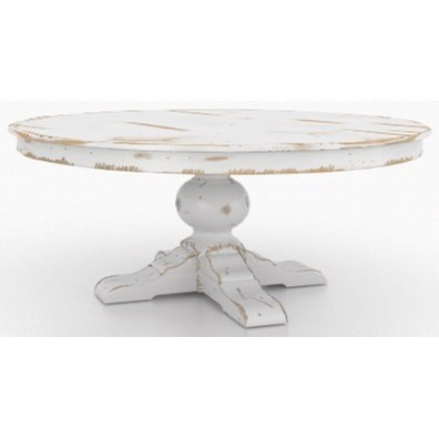 Champlain - Custom Dining Customizable Round Dining Table by Canadel at Dinette Depot