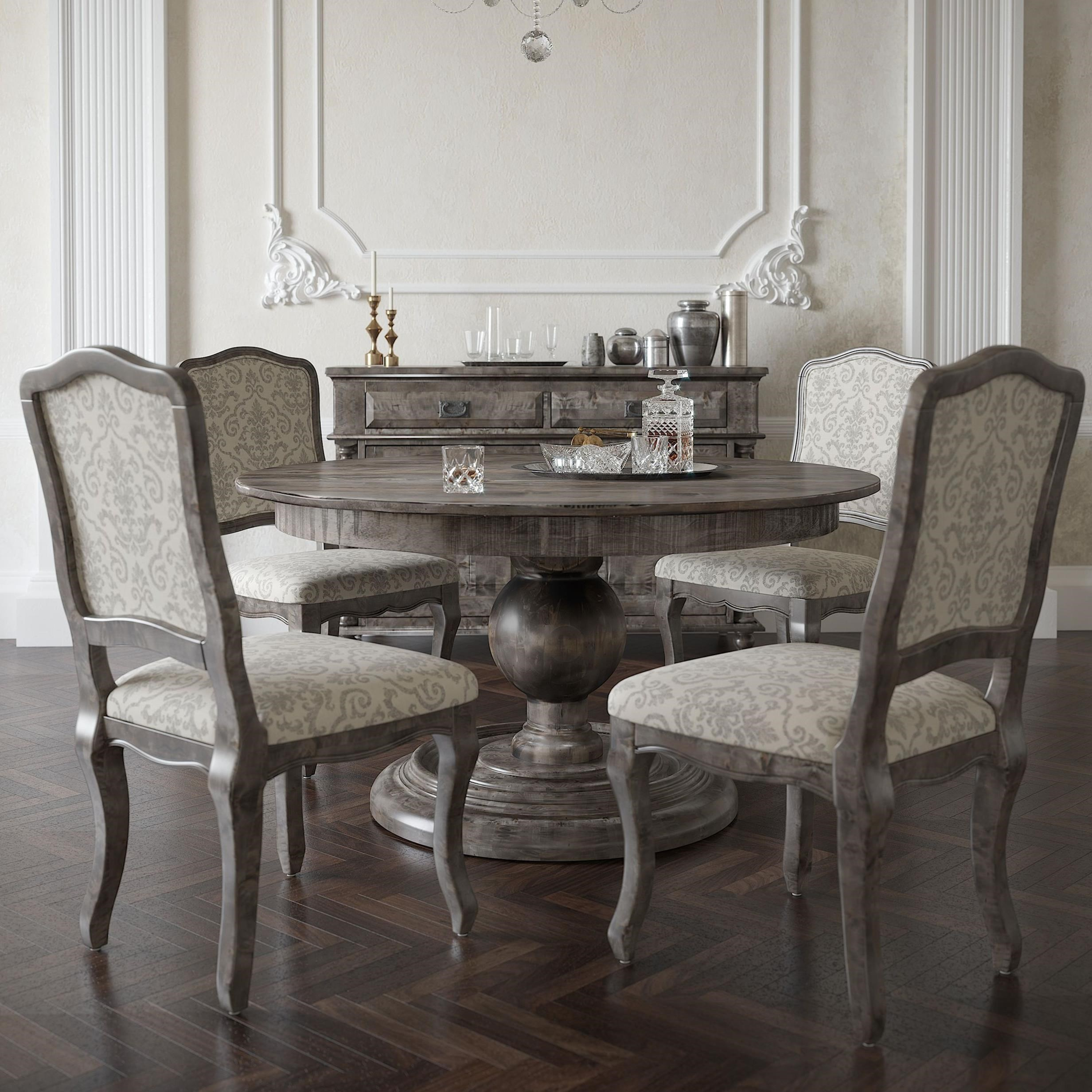 Champlain - Custom Dining Customizable Round Dining Table Set by Canadel at Jordan's Home Furnishings