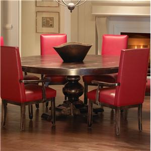 Customizable Round Dining Table with Pedestal Base