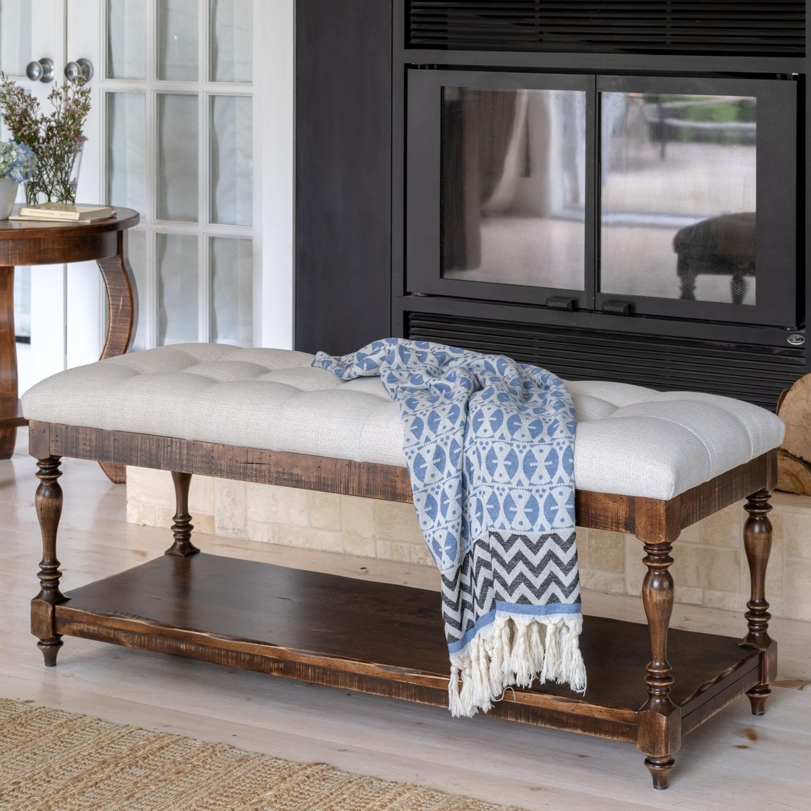 Champlain - Living Customizable Upholstered Bench by Canadel at Jordan's Home Furnishings