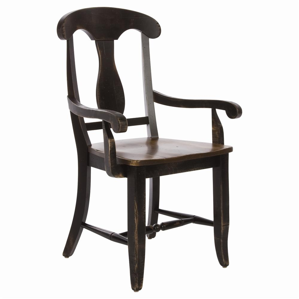 Champlain - Custom Dining Customizable  Dining Arm Chair by Canadel at Saugerties Furniture Mart