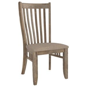 Customizable Slat Back Uph. Side Chair