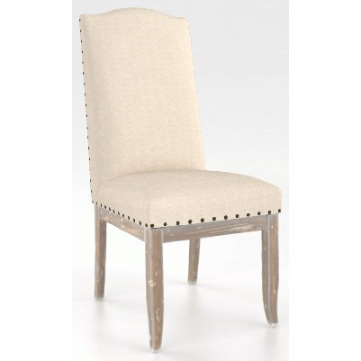 Champlain - Custom Dining Customizable Side Chair with Nailhead Trim by Canadel at Saugerties Furniture Mart