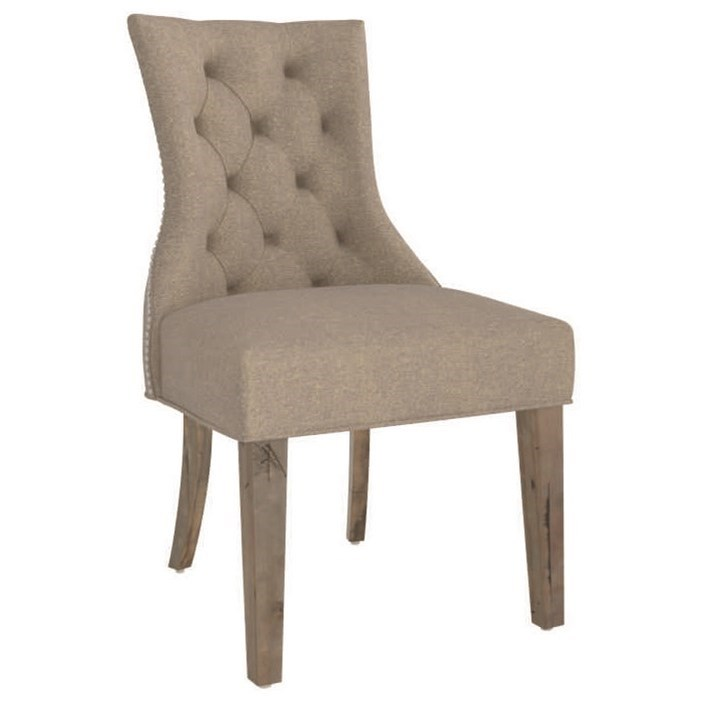 Champlain - Custom Dining Customizable Side Chair with Nailhead Trim by Canadel at Steger's Furniture