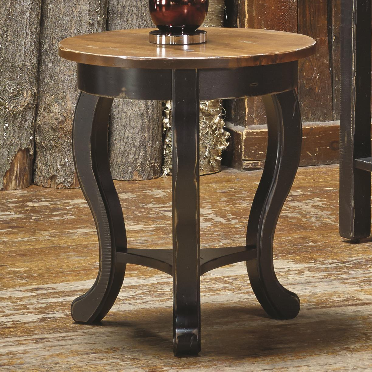 Champlain - Living <b>Customizable</b> Round End Table by Canadel at Jordan's Home Furnishings