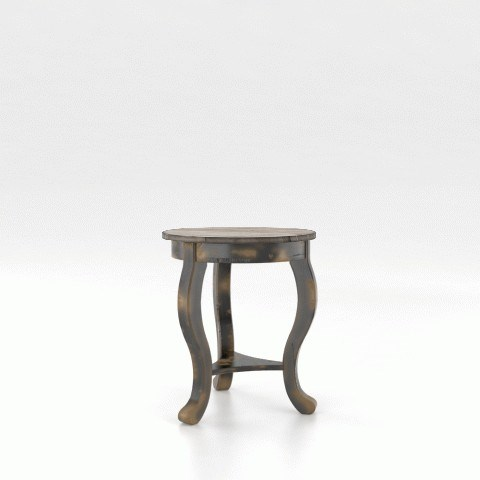 Champlain - Living Customizable Round End Table by Canadel at Jordan's Home Furnishings