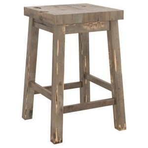 Customizable Wood Counter Stool