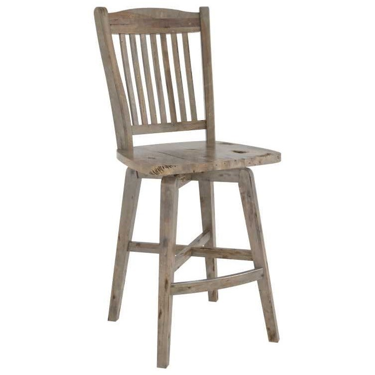 Champlain - Custom Dining Customizable Wood Stool by Canadel at Steger's Furniture