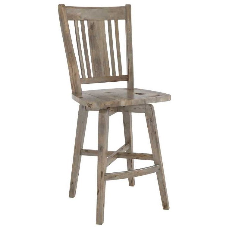Champlain - Custom Dining Customizable Wood Stool by Canadel at Saugerties Furniture Mart