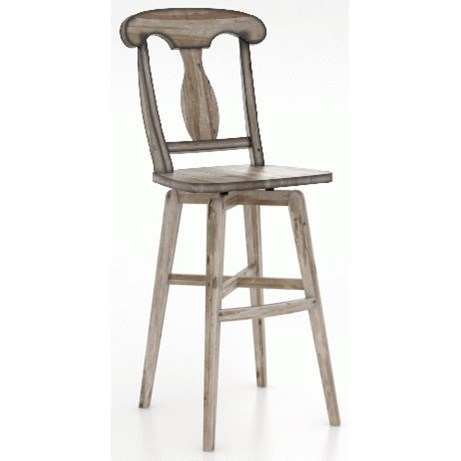 "Champlain - Custom Dining Customizable 30"" Fixed Bar Stool by Canadel at Saugerties Furniture Mart"