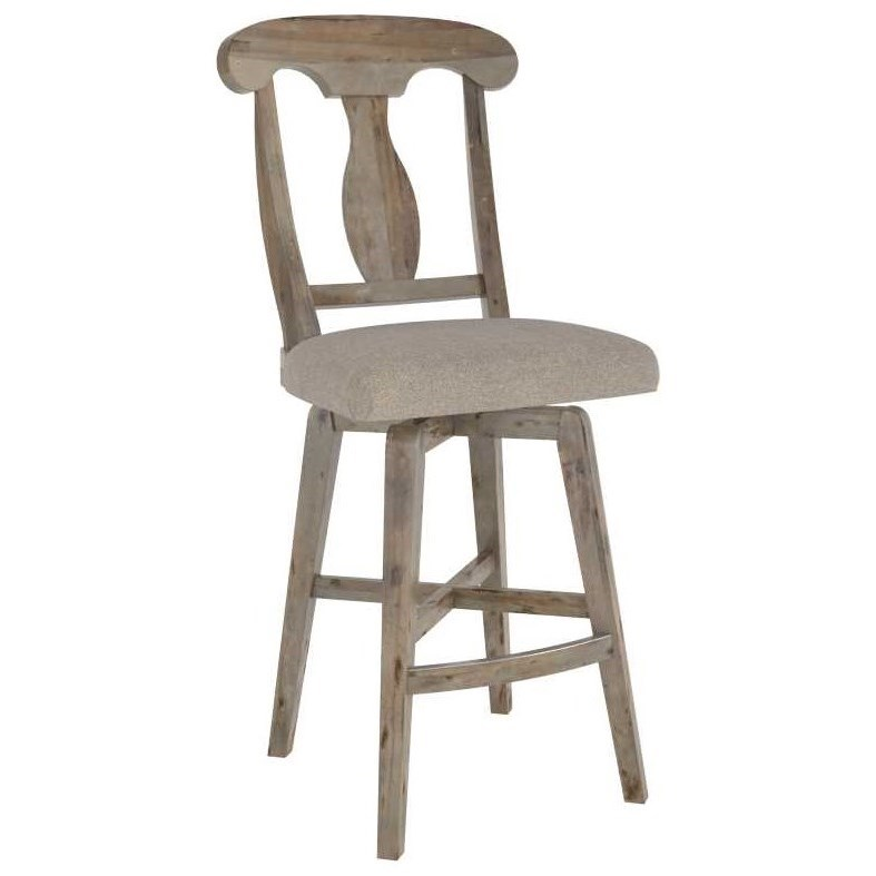 Champlain - Custom Dining Customizable Upholstered Stool by Canadel at Williams & Kay