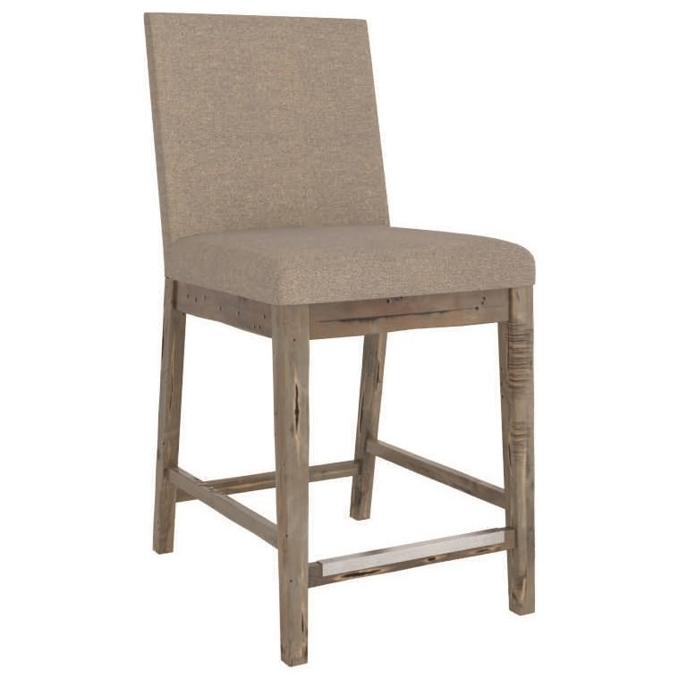 Champlain - Custom Dining Customizable Upholstered Counter Stool by Canadel at Saugerties Furniture Mart