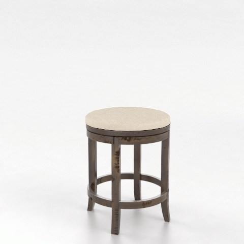 "Champlain - Custom Dining Customizable 26"" Swivel Stool by Canadel at Jordan's Home Furnishings"