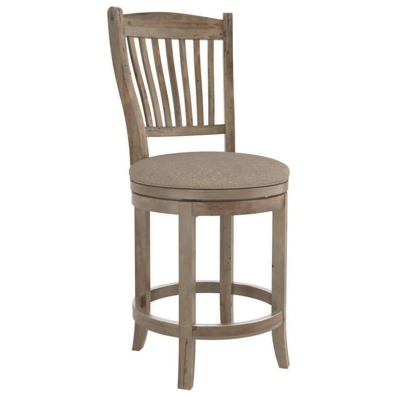 "Champlain - Custom Dining Customizable 26"" Upholstered Swivel Stool by Canadel at Goods Furniture"