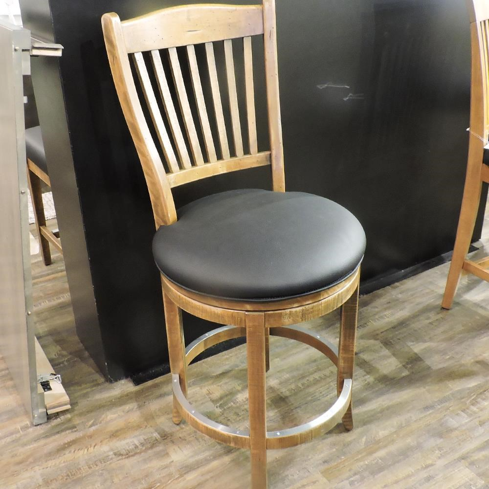 """Champlain - Custom Dining Customizable 26"""" Upholstered Swivel Stool by Canadel at Belfort Furniture"""