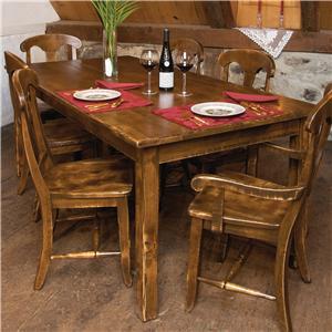 Customizable Traditional Rectangular Dining Table