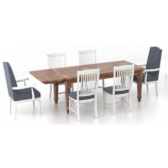 Champlain - Custom Dining Customizable 7-Piece Dining Table Set by Canadel at Williams & Kay