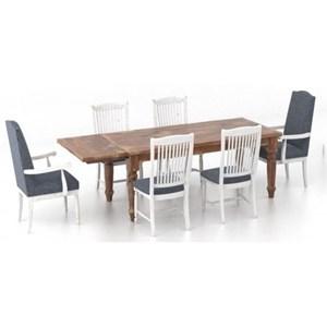Customizable 7-Piece Dining Table Set