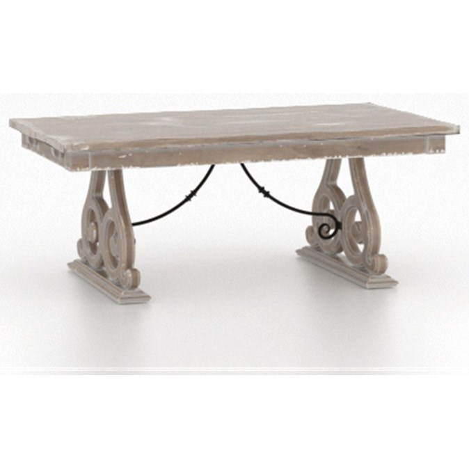 Champlain - Custom Dining Customizable Dining Table by Canadel at Saugerties Furniture Mart