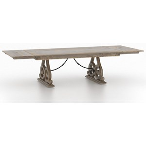 Customizable Rectangular Dining Table with Leaves