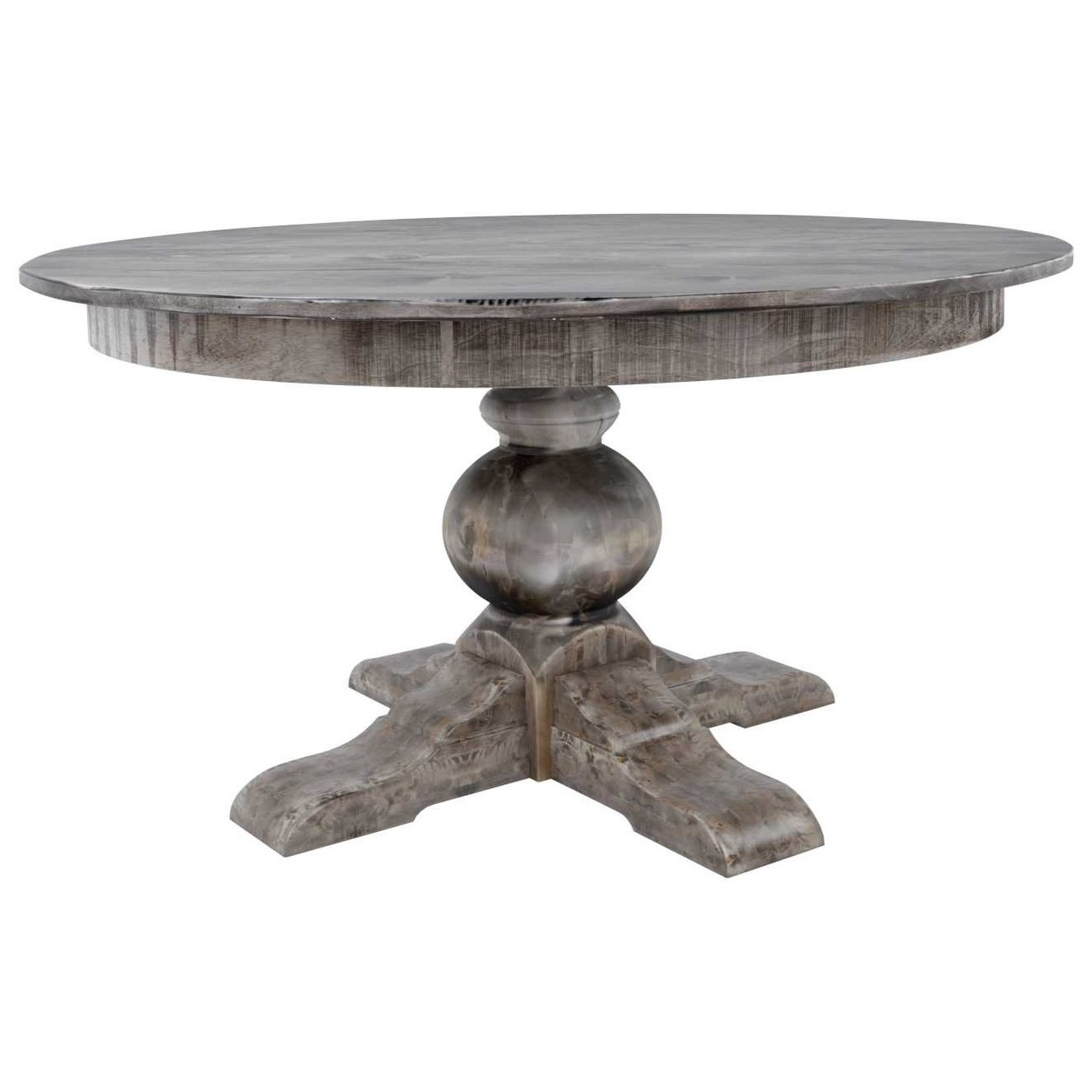 """Champlain - Custom Dining Customizable 60"""" Round Wood Solid Top Table by Canadel at Saugerties Furniture Mart"""