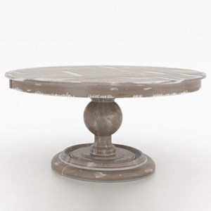 "Customizable 60"" Round Wood Solid Top Table"