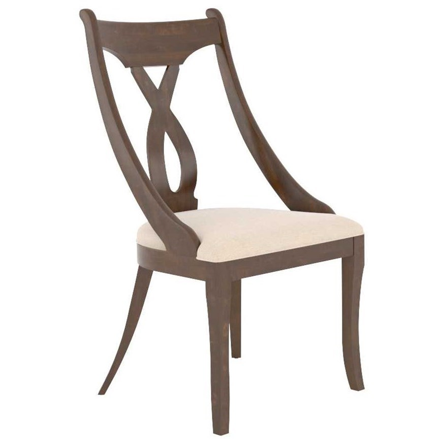 Classic Customizable Upholstered Chair by Canadel at Jordan's Home Furnishings