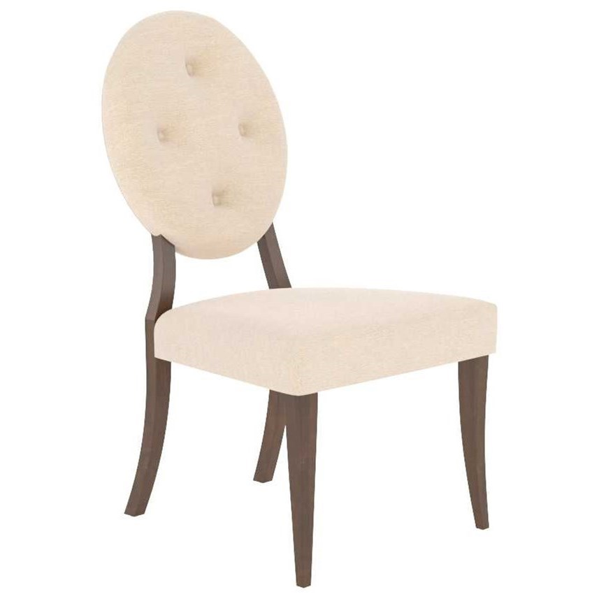 Classic Customizable Upholstered Side Chair by Canadel at Jordan's Home Furnishings