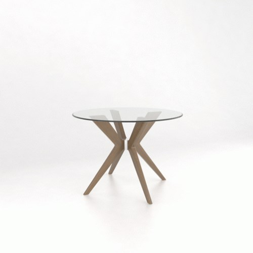 """Downtown - Custom Dining Customizable 42"""" Glass Top Dining Table by Canadel at Saugerties Furniture Mart"""